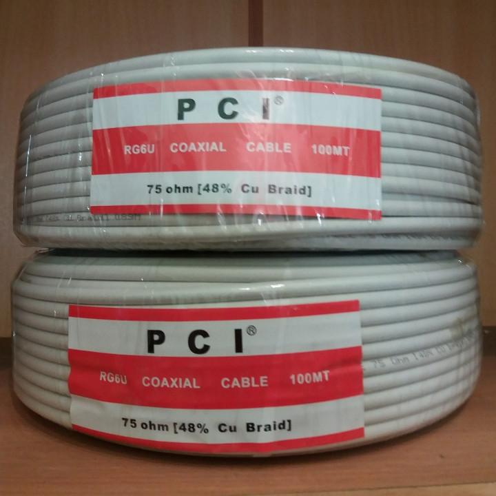 Кабель коаксиальный антенный с медным проводником PCI RG-6